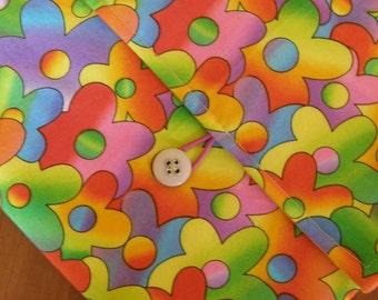MacBook / MB Pro / MB Air Laptop Sleeve in Funky Flower Fabric