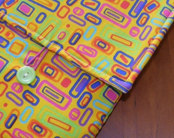 MacBook / MB Pro / MB Air Laptop Sleeve in Bright Modern Rectangles Fabric