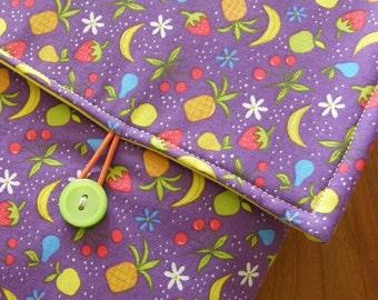 MacBook / MB Pro / MB Air Laptop Sleeve in Purple Fruit Fabric