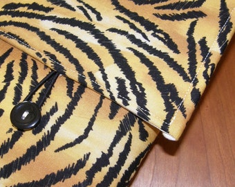 MacBook / MB Pro / MB Air Laptop Sleeve in Tiger Stripe  Fabric