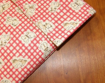 iPad Sleeve/Case with Extra Pocket in Cute Puppy Fabric
