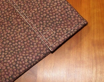 iPad Sleeve/Case with Extra Pocket in Coffee Bean Fabric