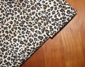 iPad Sleeve/Case with Extra Pocket in Leopard Spots Fabric