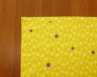 Yellow and Purple Lollipop Placemats - Set of Four