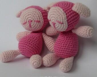 Pink Sleepy Twin Sheep