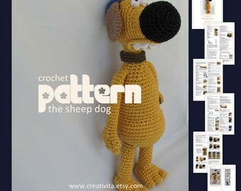 The Sheep Dog -  a crochet pattern