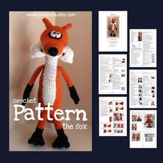 The Fox -  a crochet pattern