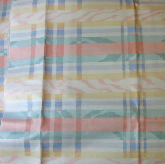 waverly carousel plaid fabric pastel stripes yellow pink. Black Bedroom Furniture Sets. Home Design Ideas