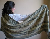 Handwoven Shawl MADE TO ORDER -  Soft and Cozy - handwoven scarf - stole - Mireloom