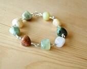 Rhapsody In Green Bracelet - stones, sterling silver