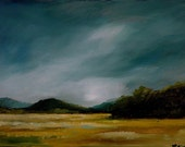 ORIGINAL Oil Painting - Landscape - On Panel - The Storm - 5 in. x 7 in. - by Bob Kimball