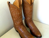 Vintage Justin brand cowboy boots size 10.5 AAA or cowgirl size 12 narrow