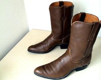 Vintage Justin Cowboy Boots size 11.5 A