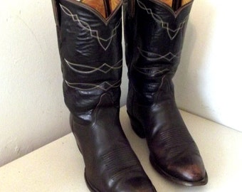 Vintage Tony Lama Dark brown Cowboy boots