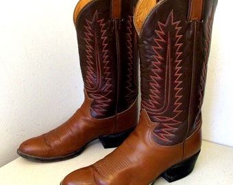 Vintage Tony Lama Cowboy Boot size 10.5 B or Cowgirl size 12