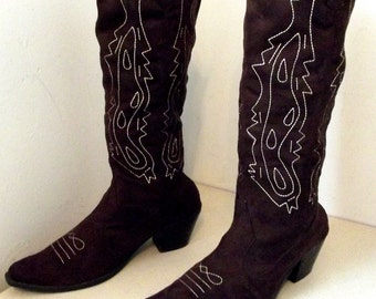 Fabulous Chocolate Brown Western Fashion Cowgirl Boots