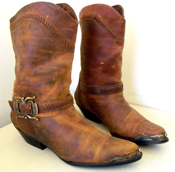 Vintage Circle S Brand Cowgirl Western Boots size 8.5 B