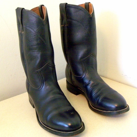 Vintage Pecos Bill Cowgirl Boots size 7 M in a deep dark blue color