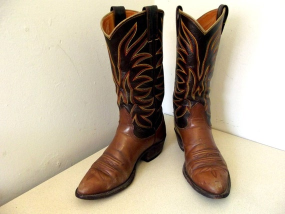 Fabulous Vintage Nocona Boots brand cowboy boots size 6.5 D or Cowgirl size 8