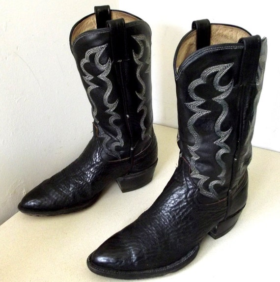 Rockin' Vintage Black Cowboy boots size 8 D or Cowgirl size 9.5