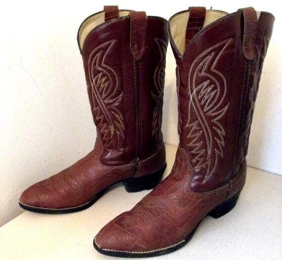 Vintage Bronco brand cowboy Boots size 12 D Vegan Friendly