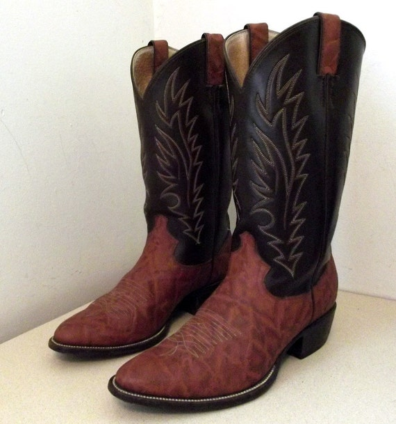 Vintage Justin Diamond J Cowboy Boots size 10 D or Cowgirl size 11.5