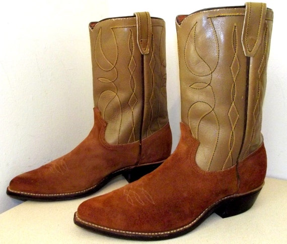 Vintage Western Cowboy Boots size 10 D or Cowgirl size 11.5 - Acme brand