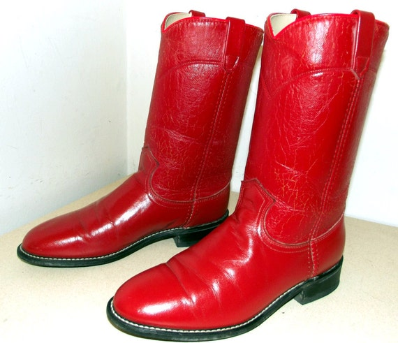 Miss Rodeo USA Acme brand Red Cowgirl Boots size 7.5 M