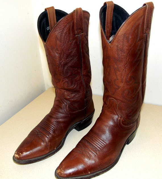 Vintage Dan Post brand cowboy boots size 9.5 D or cowgirl size 11