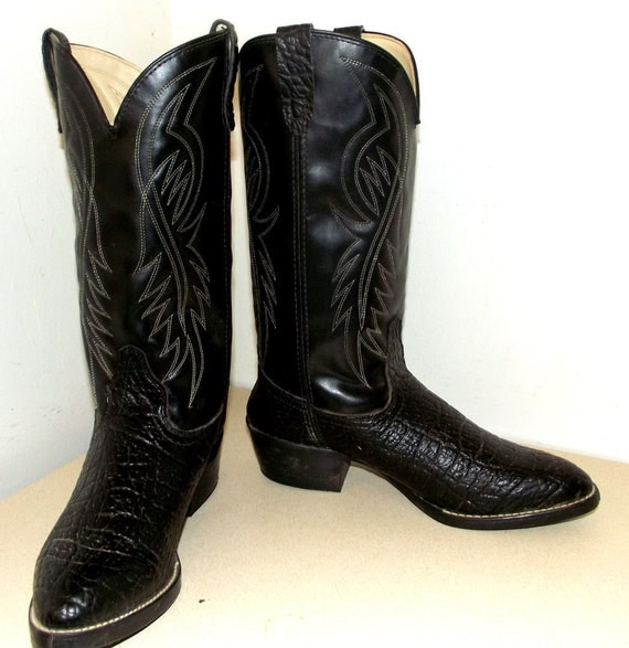 Vegan Friendly Cowboy Boots Bronco Brand Size 9 5 Ee Or