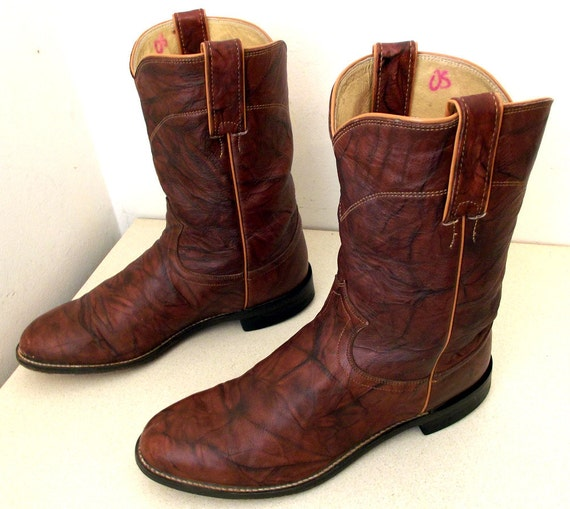 justin brand brown cowboy boots size 8 5 ee or size 10