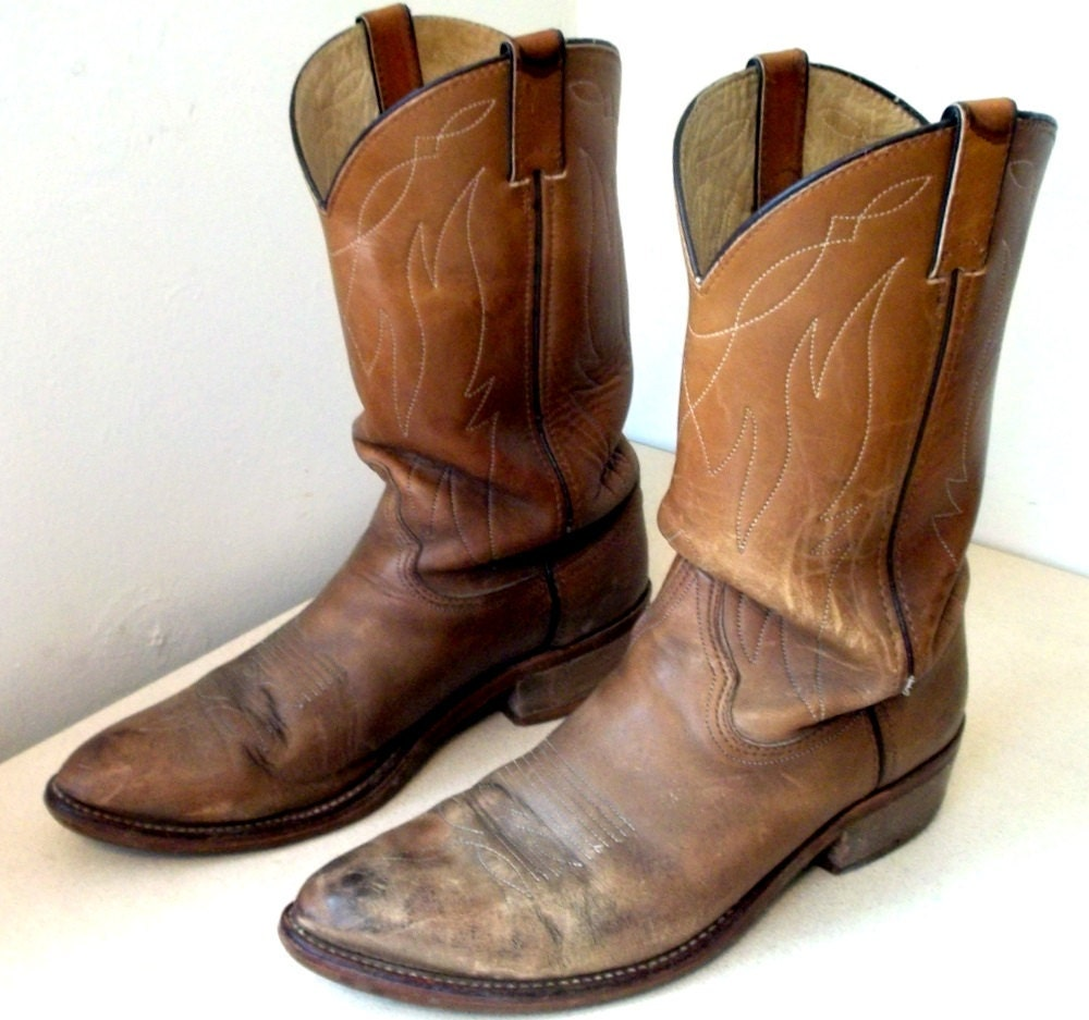 Authentic Rugged Double H Cowboy Boots size by honeyblossomstudio