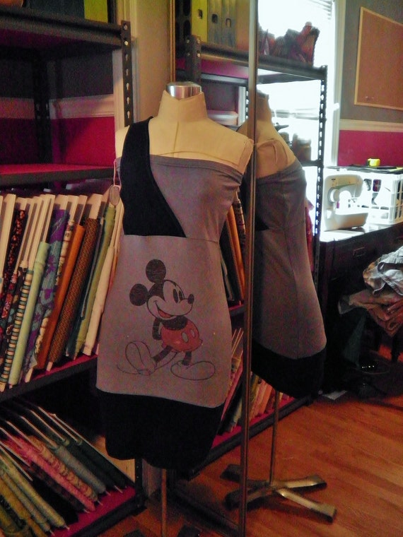 UPCYCLED Mickey Mouse T-Shirt Dress