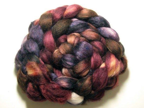 Baby Camel/Merino/Silk 40/40/20 Combed Top- 4oz - Dark Chocolate 2