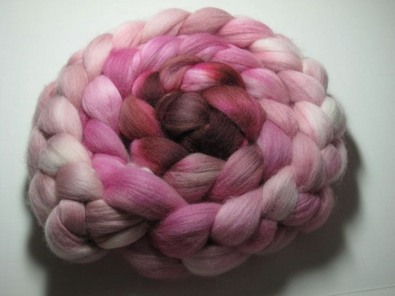 Merino 19 Micron Combed TOP 5 oz - Pink Squirrel 1