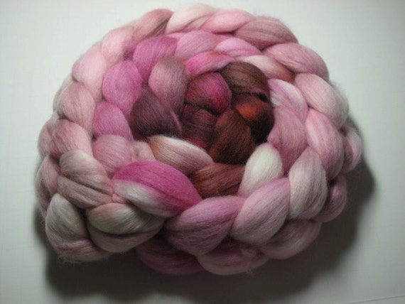 Merino 19 Micron Combed TOP 5 oz - Pink Squirrel 2