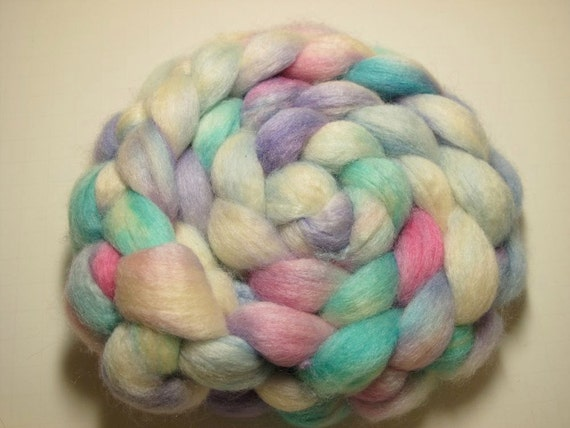 Blue Faced Leicester/Tussah 75/25 Combed TOP 5.0 oz - Watercolor 1
