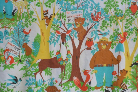 Smokey the Bear Fabric