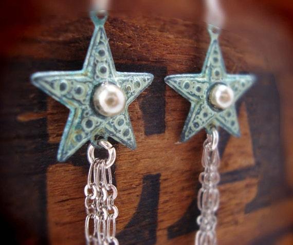 Western Star patina earrings