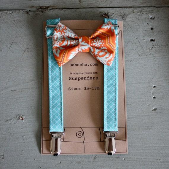 Cameron Suspender Bow Tie set - size 3m-18m