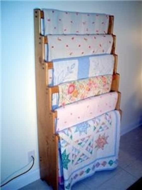 Items Similar To Six Quilt Blanket Afghan Rack Display