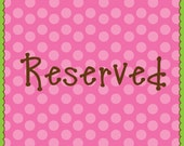 RESERVED Listing for Liza