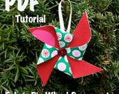 PDF - Fabric Pinwheel Christmas Ornaments ePattern