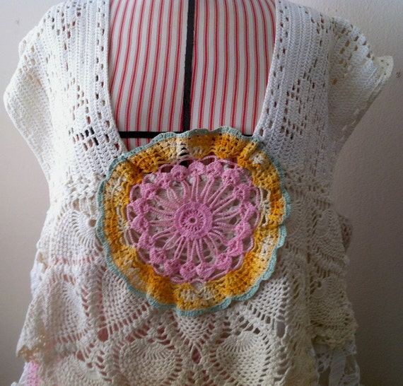 plus size hand-made doily top