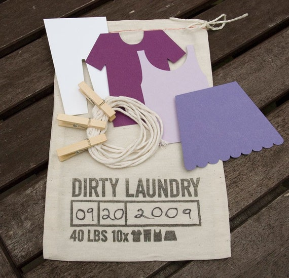 PURPLE Dirty Laundry Guest Book Kit
