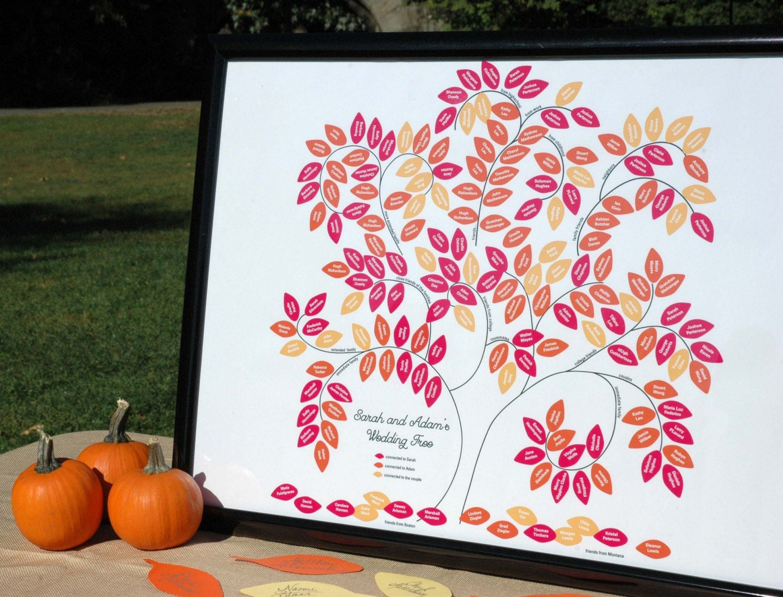 Wedding Tree Genealogy Chart by melangeriedesign on Etsy