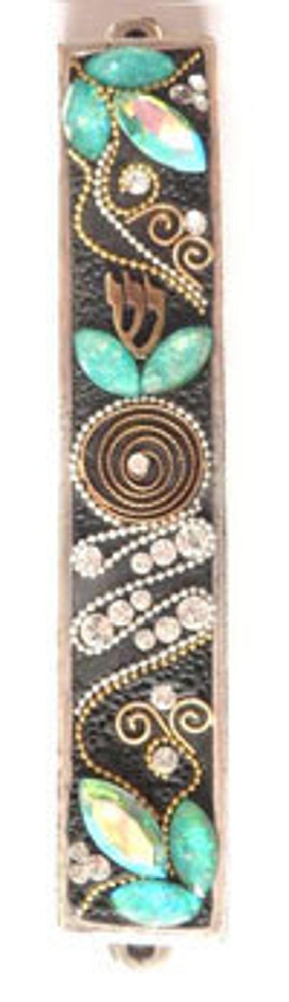New Mezuzah Handmade Art Flower Swarovski crystal