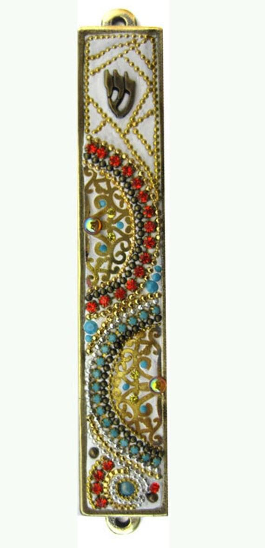 SALE New Mezuzah Handmade Art Swarovski crystal unique
