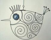 Blue - Eyed Wire Bird