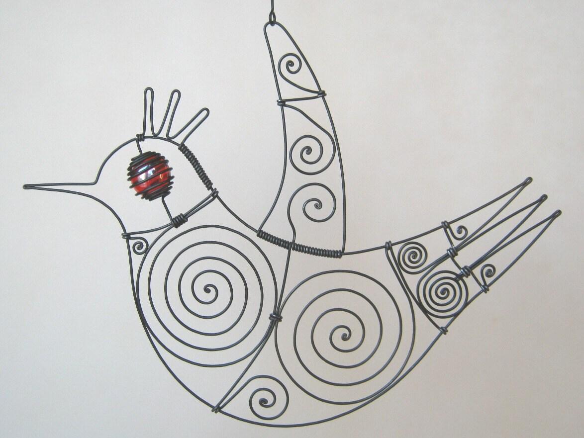 Wire Sculpture Bird Sculpture
